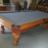 Olhausen Mfg. Grey Felt Pool Table