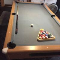 7ft Slate Pool Table in Great Condition