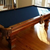 Pool Table Maple Burlwood 8 ft professional w/leather pockets