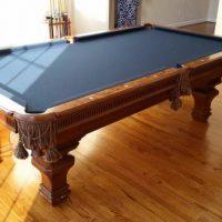 Gorgeous Maple Burlwood Pool Table