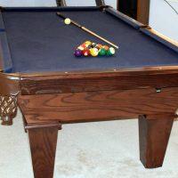 "Connelly Pool Table ""Redington Ash"" With 3-Piece Italian Slate"