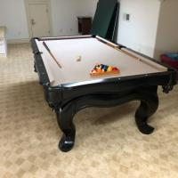 8' Black-Wood Pool Table
